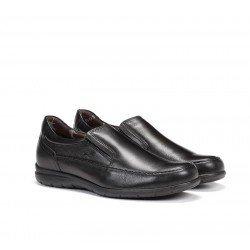 Mocasines Fluchos Hombre, modelo 8499, color Negro, con elásticos, vista portada