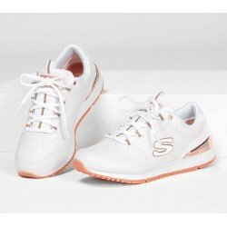 Zapatillas Skechers Originals Street Sunlite Delightfully OG, modelo 907, color blanco WHT, vista portada