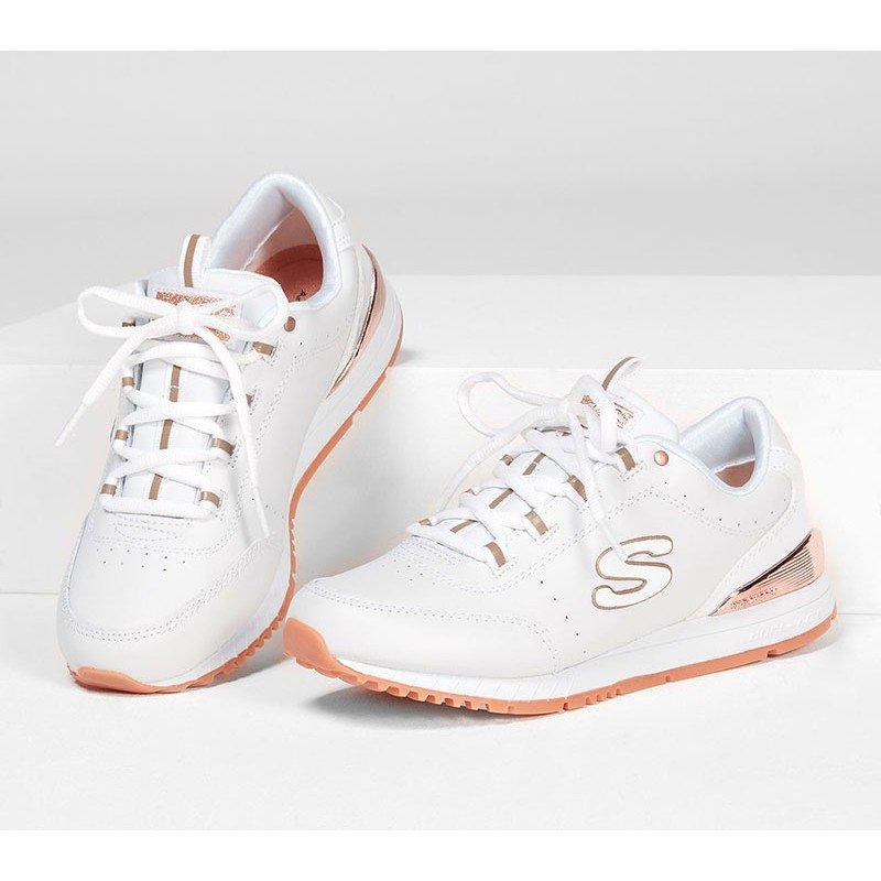Zapatillas Skechers Originals Street Sunlite Delightfully OG, modelo 907, color blanco WHT, vista portada