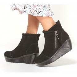Botines Casual Skechers Parallel Off Hours 44758 BBK Negro, cremallera, Waterproof, vista outfit