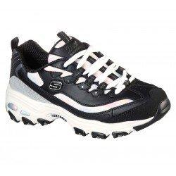 Zapatillas deportivas Skechers D'Lites Cotton Candy 149240 BKGY Negro, vista portada