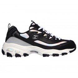 Zapatillas deportivas Skechers D'Lites Cotton Candy 149240 BKGY Negro, vista lateral
