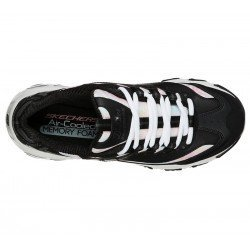Zapatillas deportivas Skechers D'Lites Cotton Candy 149240 BKGY Negro, vista superior