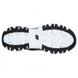 Zapatillas deportivas Skechers D'Lites Mountain Alps 149100 BKRD Negro Tartan Rojo, con cordones, vista suela