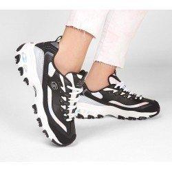 Zapatillas deportivas Skechers D'Lites Cotton Candy 149240 BKGY Negro, vista outfit