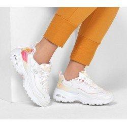 Zapatillas Deportivas Skechers D'Lites Pearly Glow 149142 WHT Blanco, con cordones, vista outfit