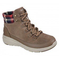 Botines Skechers Waterproof On the Go Glacial Ultra Peak 144152 dktp Taupe, vista portada