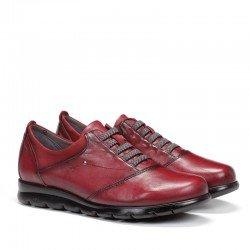 Zapatos FLUCHOS elásticos y con tecnología Dynergy, modelo F0354, color rojos, vista portada.