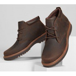 Bota Skechers Welson Osteno modelo 204266 color choc marron, vista portada.
