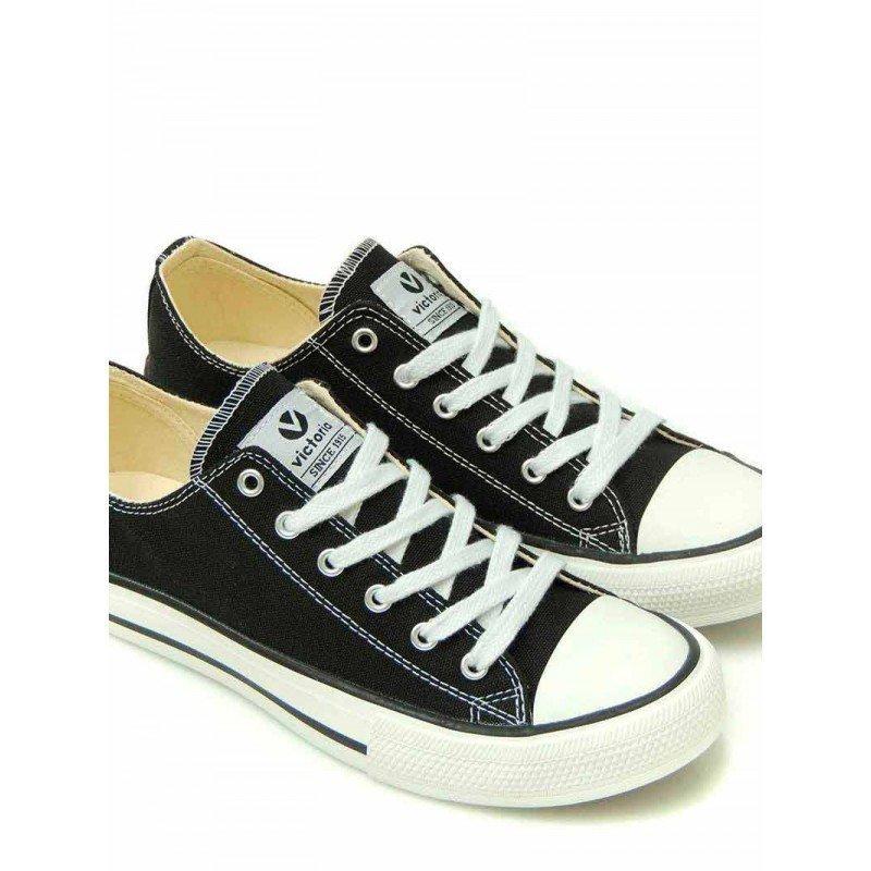 Zapatillas Victoria tribu basket, modelo 06550, color negro, vista portada.