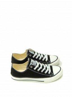 Zapatillas Victoria tribu basket, modelo 06550, color negro, vista lateral.