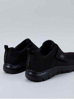 Comprar Zapatillas con vecro Skechers Flex Advantage 2.0 Gurn, modelo 52183, color negro