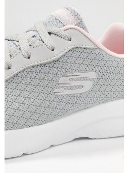Zapatilla Skechers Sport Dynamight 2.0 Eye To Eye, modelo 12964, color gris claro LGPK