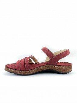 Comprar online sandalia acolchada Walk & Fly de mujer, de piel, modelo 3861 42670, color burdeos, vista lateral interior.