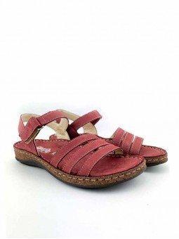 Comprar online sandalia acolchada Walk & Fly de mujer, de piel, modelo 3861 42670, color burdeos, vista general.