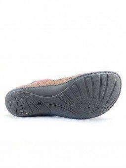 Comprar online sandalia acolchada Walk & Fly de mujer, de piel, modelo 3861 42670, color burdeos, vista suela