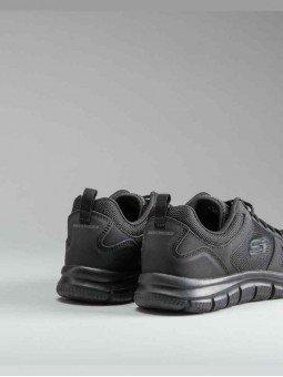 Comprar Zapatillas Skechers Sport Track Scloric, modelo 52631, color negro, vista talón.